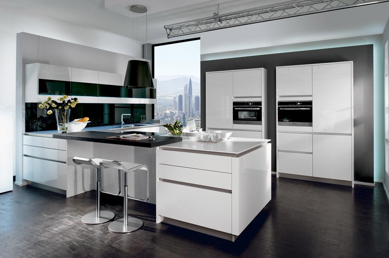 Perfect Cuisine Stormer Atre Et Loisirs Cuisine Blanche Cuisine Blanc Et  Noir Cuisine Ilot With Ilot Central Cuisine Design