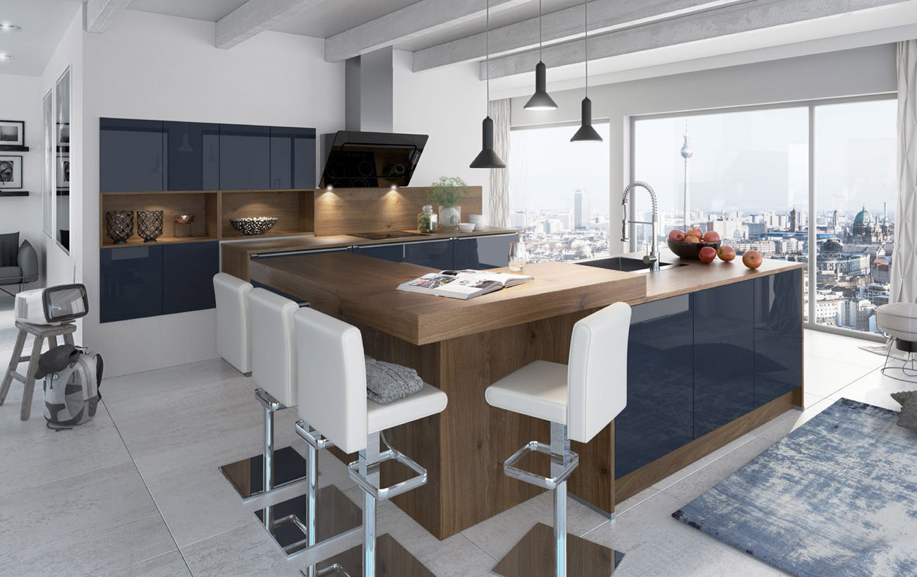 Cuisines artego atre et loisirs votre cuisiniste chamb ry for Cuisine complete bleu