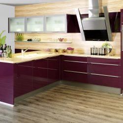 cuisine violet prune cassis, Atre et Loisirs cuisiniste à Chambéry, albertville; Aix lex Bains, Pontcharra Grenoble, Maurienne