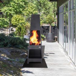 Cheminée exterieur Loke barbecue feu exterieur Jotul Grenoble Chambery Montmélian Albertville Atre et Loisirs