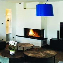 Cheminée d'angle, foyer Ruegg, Atre et loisirs, cheminée à Chambéry, cheminées à Grenoble, cheminées à Annecy