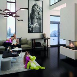 foyer fermé Ruegg RIII, foyer 3 vitres, foyer design, Atre et Loisirs, GRanoble, chambéry, Montmélian, Albertville, Savoie , isère