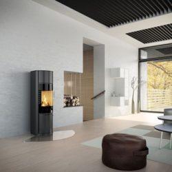 poele a bois attika hera, poele rond en acier, moderne, Atre et Loisirs Savoie installateur, Atre et Loisirs Isere installateur