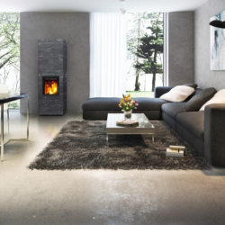 poele en pierre tulikivi Kammi 18, poele contemporain en pierre, poele mixte, atre et loisirs grenoble chambéry albertville aix les bains