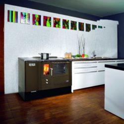 cuisinière bois et granulés Lohberger lcp 80 gris anthracite Atre et Loisirs Montmélian Chambéry Grenoble Annecy 38 73 74