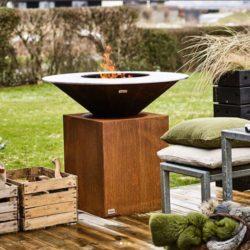 barbecue extérieur rond sur socle Attika ofyr Atre et Loisirs Arbin, St Martin d'Hères, Chambéry, Albertville, Annecy