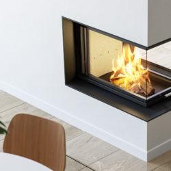 insert cheminée Scan 5005 en epi, séparation de pièce Atre et Loisirs installateur en Savoie, en isère, en Haute-Savoie. Grenble, Chambéry, Annecy
