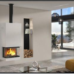 Foyer insert à bois buches Atraflam 800 vison 3 vitres. Atre et loisirs Installateur en Savoie 73, Haute-Savoie 74 et Isère 38.