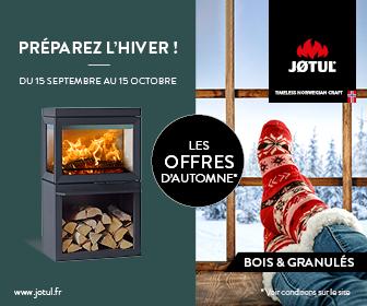 Promotion promo Jotul soldes du 15 septembre au 15 ocotbre 2021 Préparez l'hiver